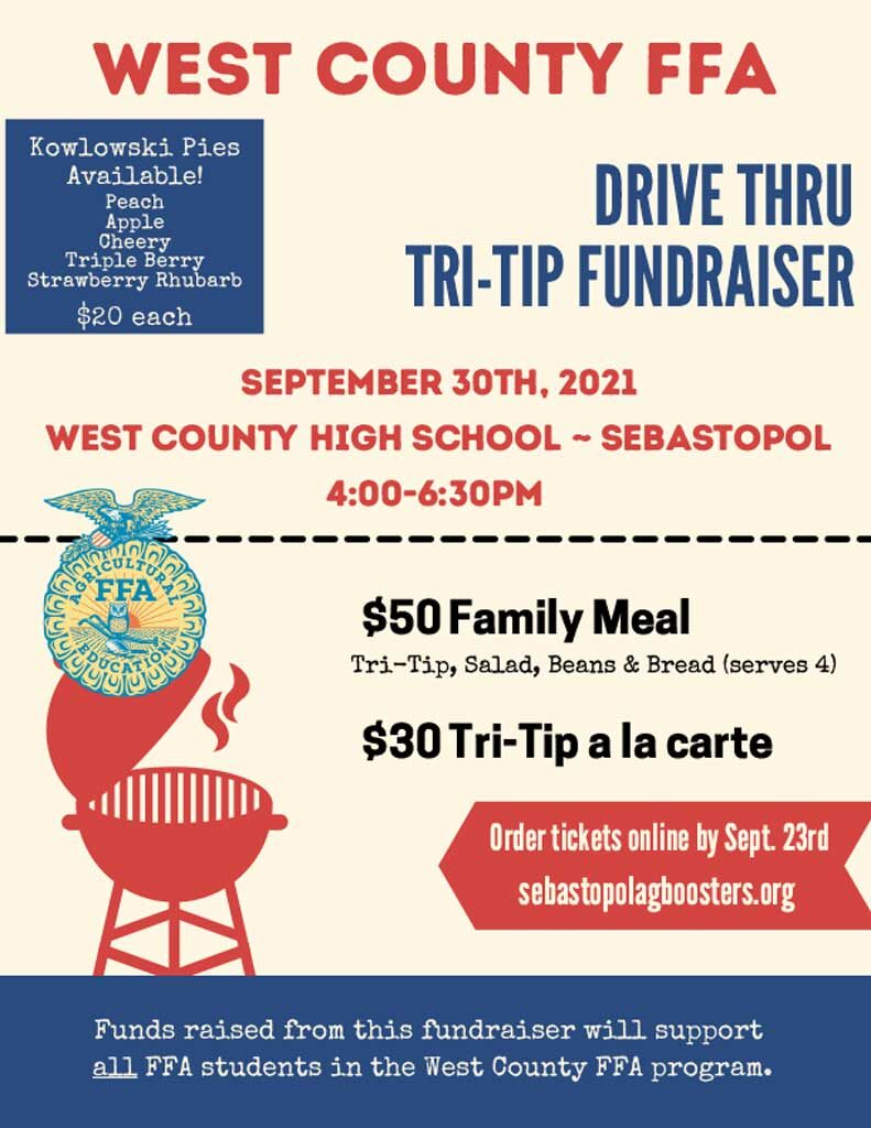 Tri tip barbeque fundraiser poster